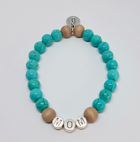 Howliet turquoise MOM armband