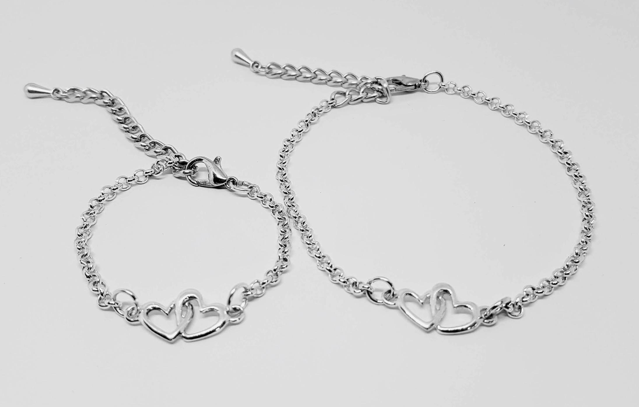 Verwonderend Moeder dochter armband ⋆ Mi Mimma ⋆ twinnen zilver hart⋆ MV-12