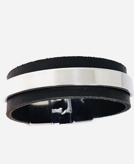 Lederen armband T-sluiting