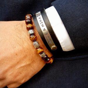 Tijgeroog armband met Boedha